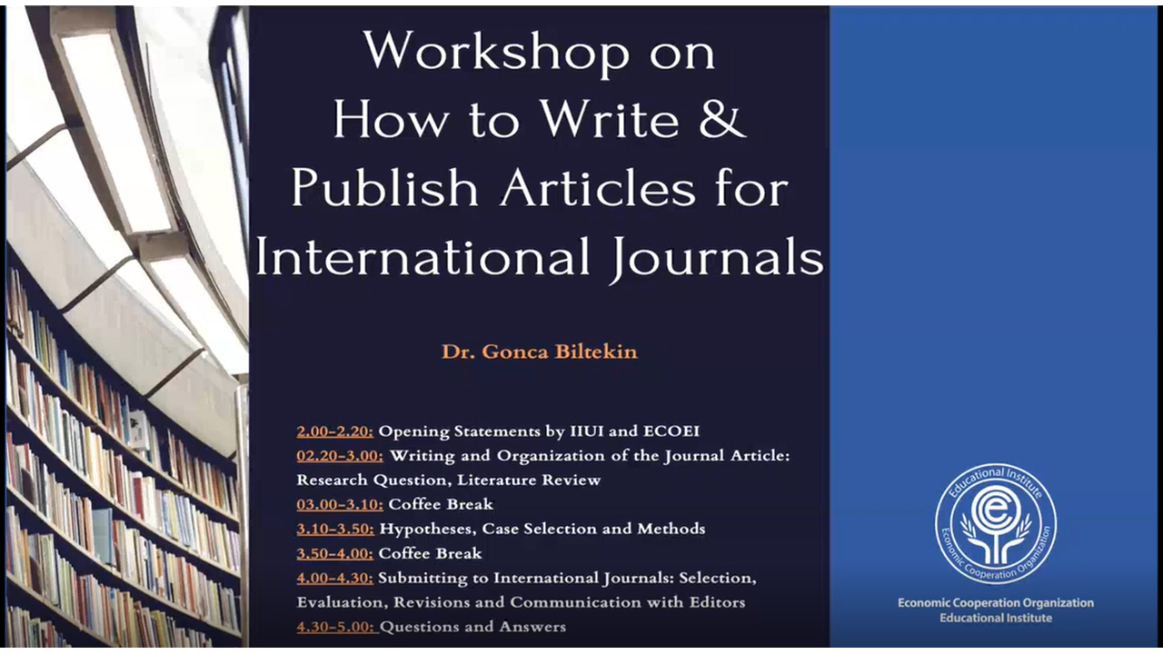Workshop on How to Write and Publish Articles in International Journals