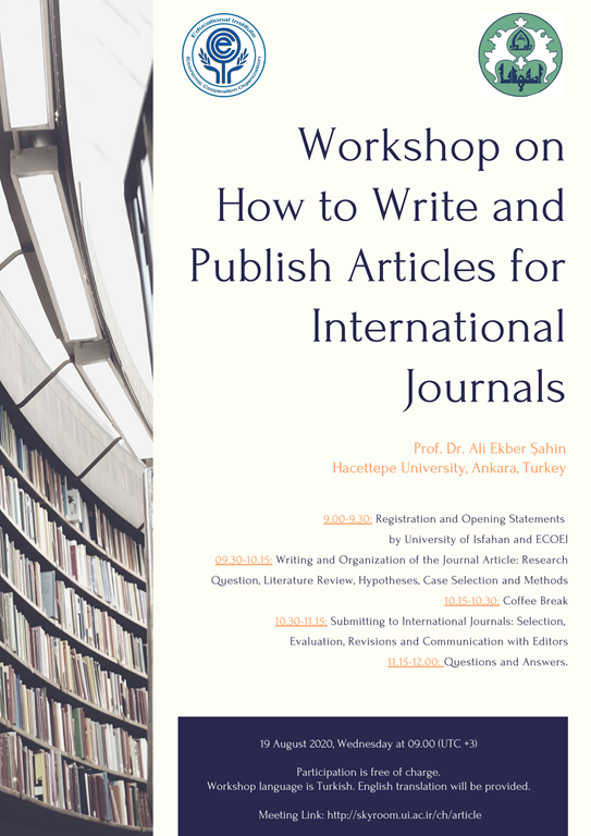 "Workshop on ""How to Write and Publish Articles for International Journals"""